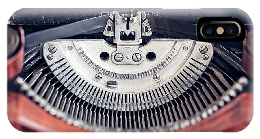Antiquated IPhone X Case featuring the photograph Vintage Typewriter by Leslie Banks