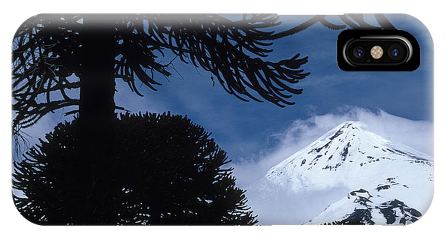 Andes IPhone X Case featuring the photograph Volcano In Patagonia, Argentina by Peter Essick