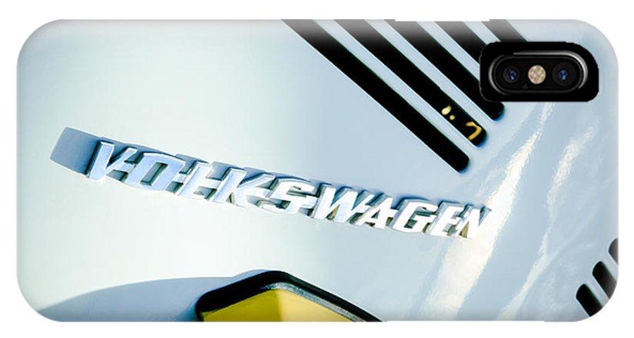 Volkswagen Vw Emblem IPhone X Case featuring the photograph Volkswagen Vw Emblem by Jill Reger