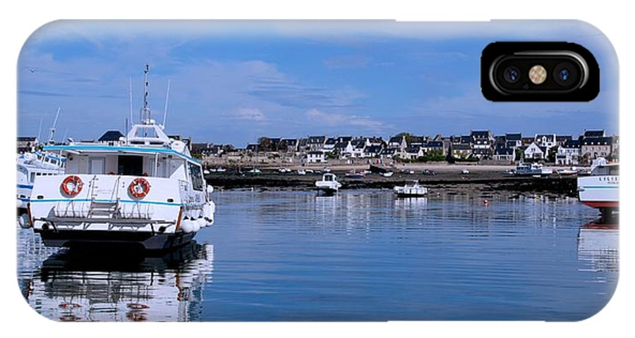 Boats IPhone X Case featuring the photograph Waiting For The Tide by Eric Tressler