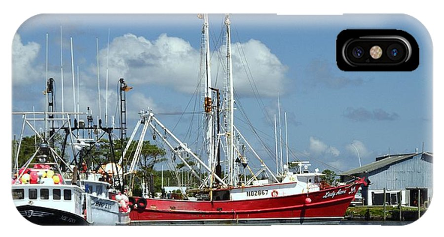 Wanchese Harbor IPhone X Case featuring the photograph Wanchese Harbor by Allen Beatty