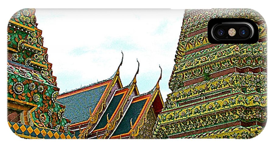 Wat Po In Bangkok IPhone X Case featuring the photograph Wat Po In Bangkok-thailand by Ruth Hager