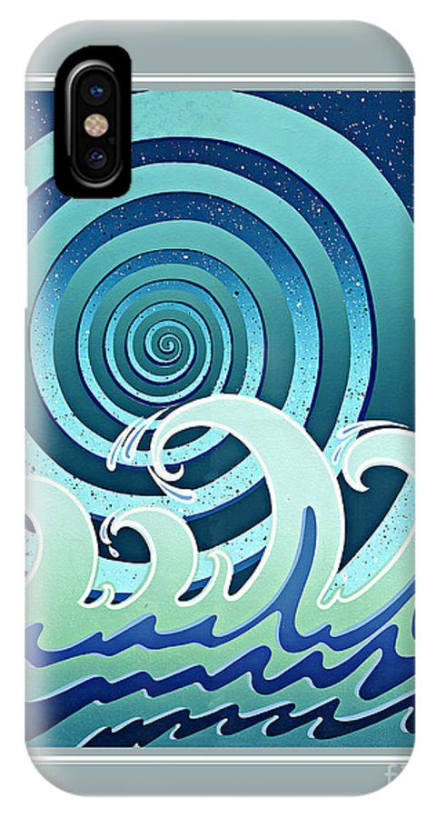 Water IPhone X Case featuring the painting Water by Santi Arts