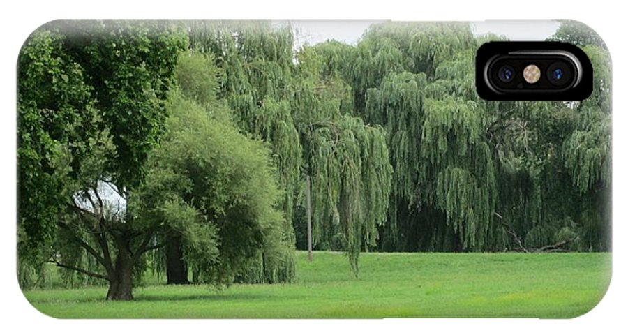 Landscape IPhone X Case featuring the photograph Weeping Willows by Marian Jenkins