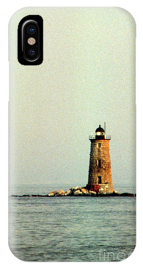 Lighthouses IPhone X Case featuring the photograph Whaleback Lighthouse by Skip Willits