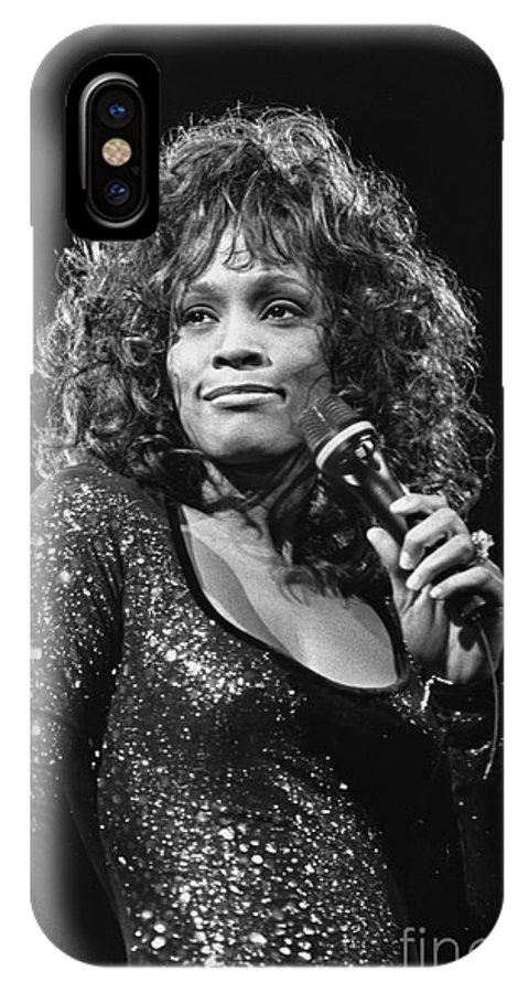 Singer IPhone X Case featuring the photograph Whitney Houston by Concert Photos