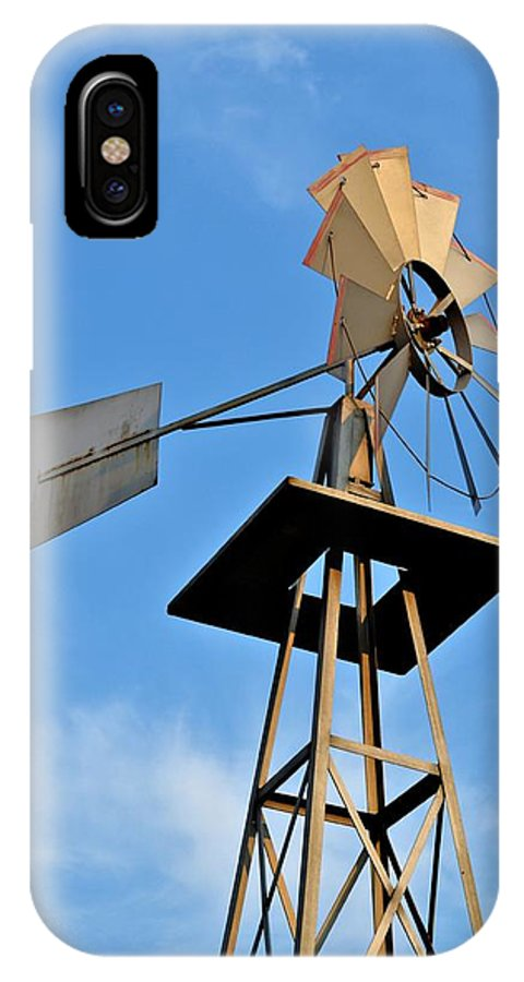 Windmill IPhone X Case featuring the photograph Windmill by Tara Potts