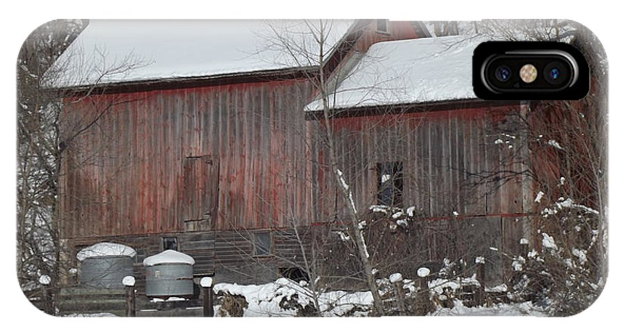 Elkader Iowa IPhone X Case featuring the photograph Winter Barn by Bonfire Photography