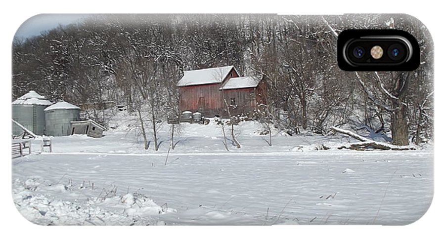 Elkader Iowa IPhone X Case featuring the photograph Winter Farm by Bonfire Photography