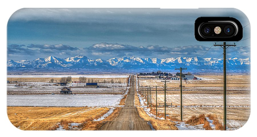 Alberta IPhone X Case featuring the photograph Winter Farmland by Brandon Smith