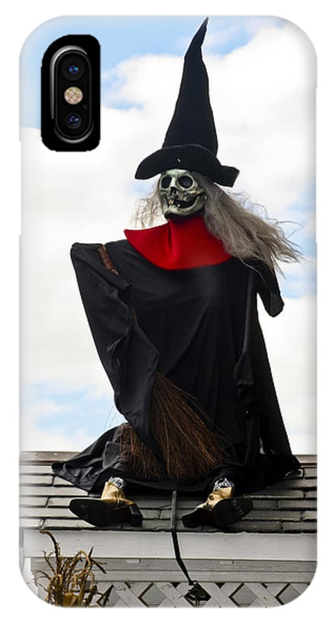 Halloween IPhone X Case featuring the photograph Witch by Dennis Coates