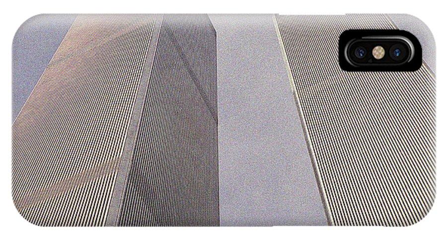 World Trade Center IPhone X Case featuring the digital art World Trade Center by Ronald Jansen