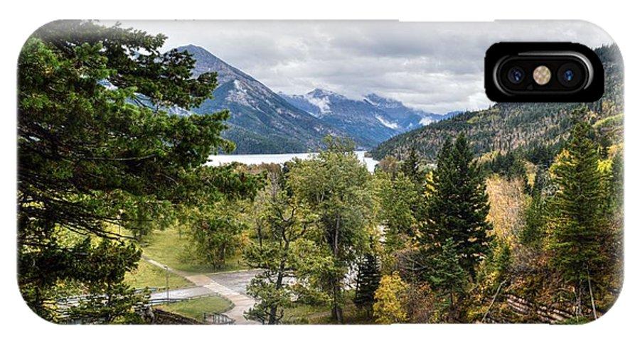 Banff Alberta Canada IPhone X Case featuring the photograph Banff Alberta Canada by Paul James Bannerman