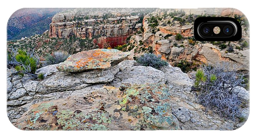 Colorado National Monument IPhone X Case featuring the photograph Colorado National Monument by Ray Mathis