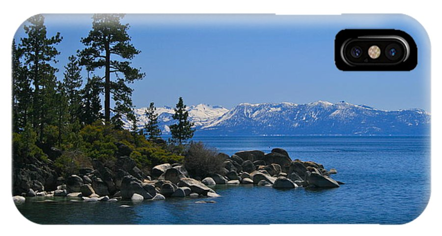 Tahoe IPhone X Case featuring the photograph Lake Tahoe Photography Art by Jessica Johnson