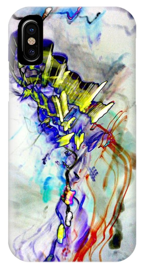 Light Strands IPhone X Case featuring the digital art Light Strands by D Preble
