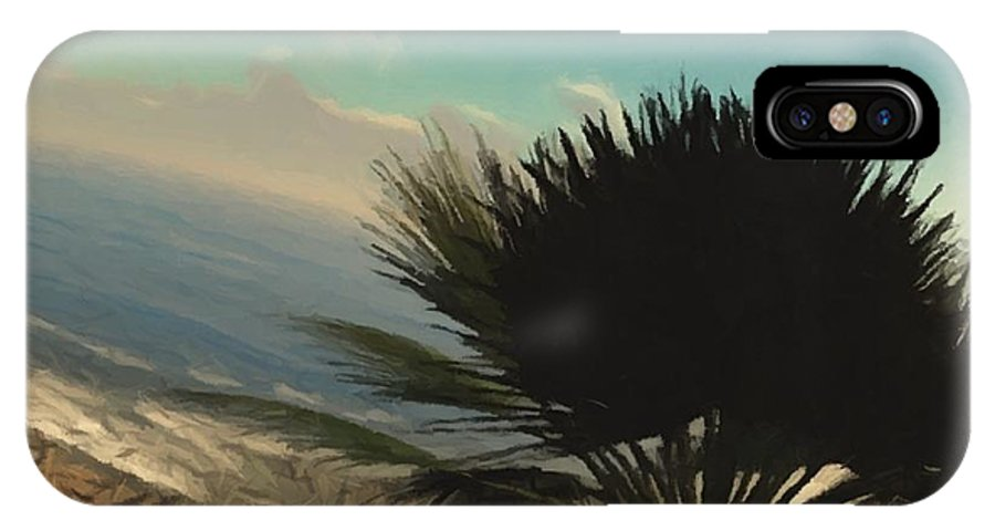 IPhone X Case featuring the digital art Paradise Island Small Room 14c by S Lurk