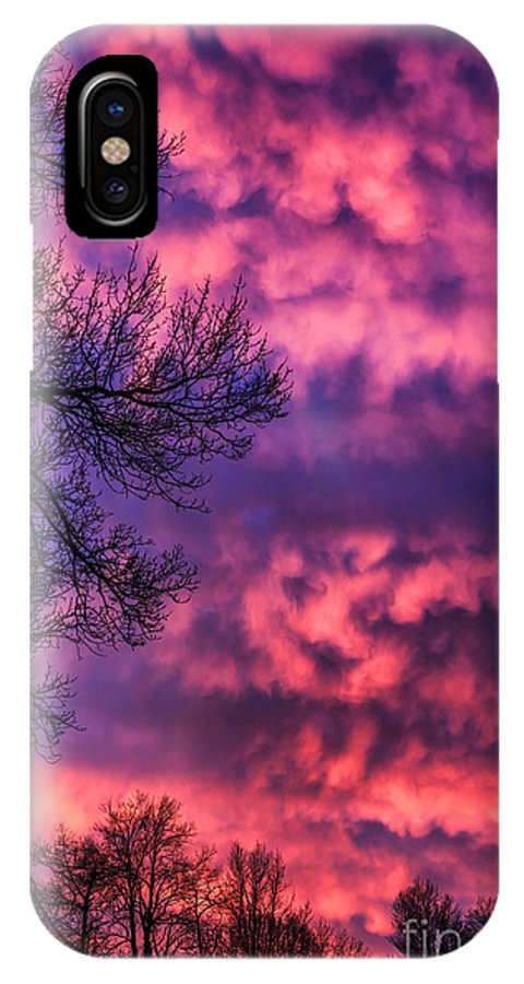 Sunrise IPhone X Case featuring the photograph Red Sky At Morning by Thomas R Fletcher