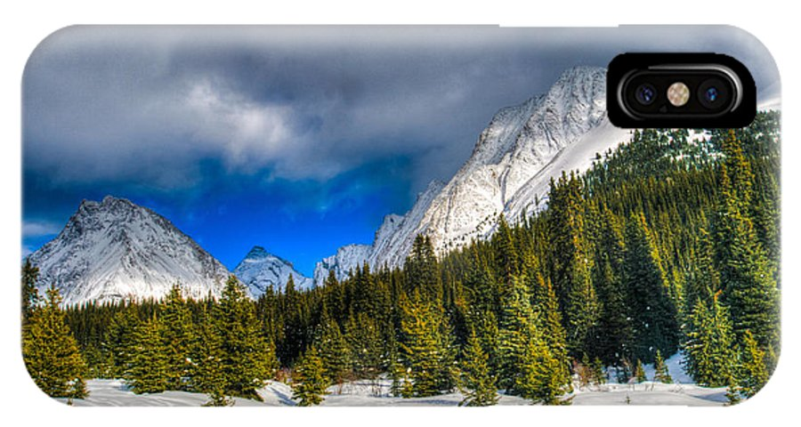 Alberta IPhone X Case featuring the photograph Winter In The Mountains by Brandon Smith