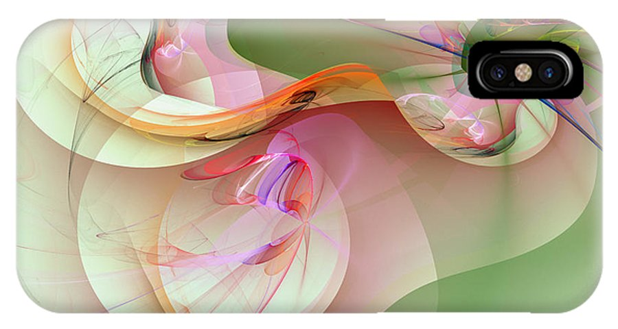 Abstract Art IPhone X Case featuring the digital art 1041 by Lar Matre