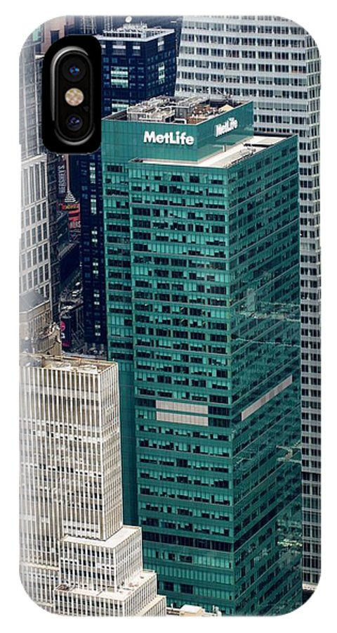 New York IPhone X Case featuring the photograph 1095 Avenue Of The Americas by Martin Jones