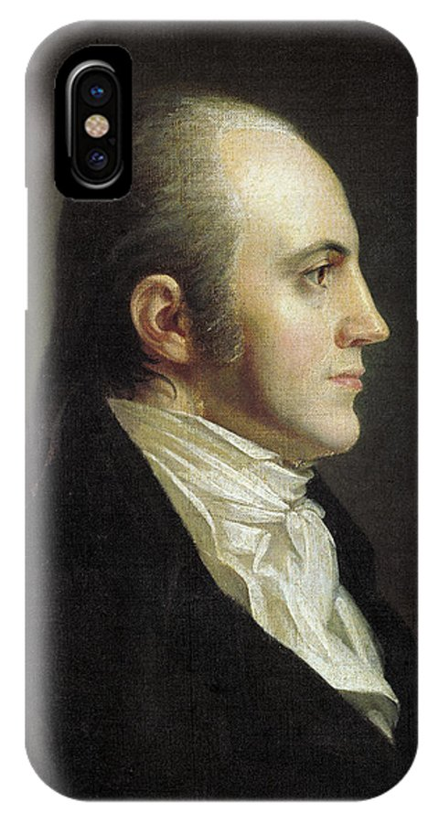 19th Century IPhone X Case featuring the painting Aaron Burr (1756-1836) by Granger