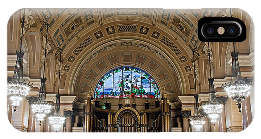 Liverpool IPhone X Case featuring the photograph Interior Of St Georges Hall Liverpool Uk by Ken Biggs