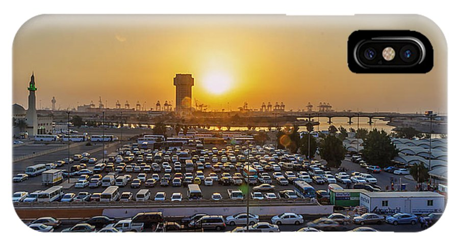 Sunrise IPhone X Case featuring the photograph Jeddah by Lik Batonboot
