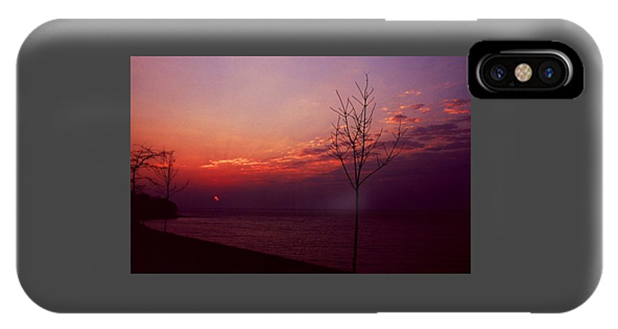 Sunset IPhone X Case featuring the photograph 112601-20 by Mike Davis