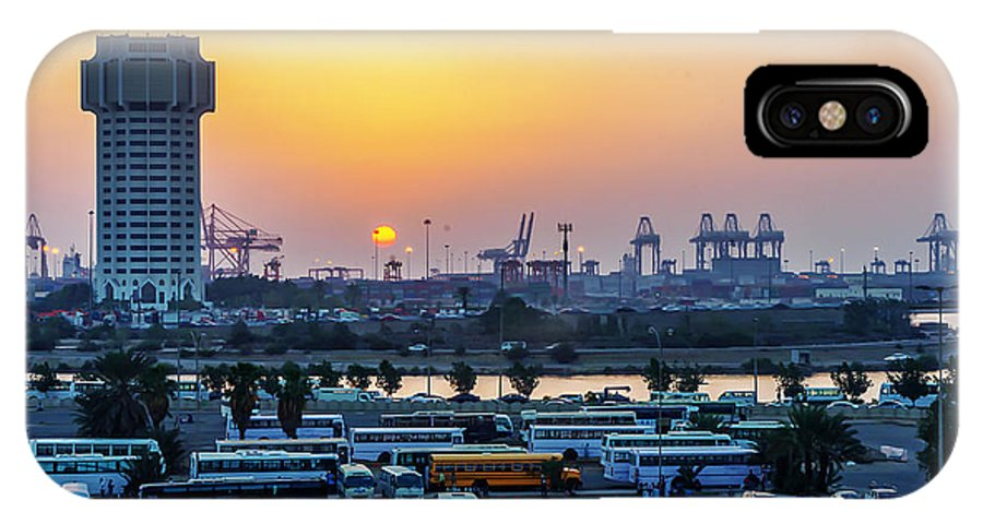 Sunset IPhone X Case featuring the photograph Jeddah by Lik Batonboot