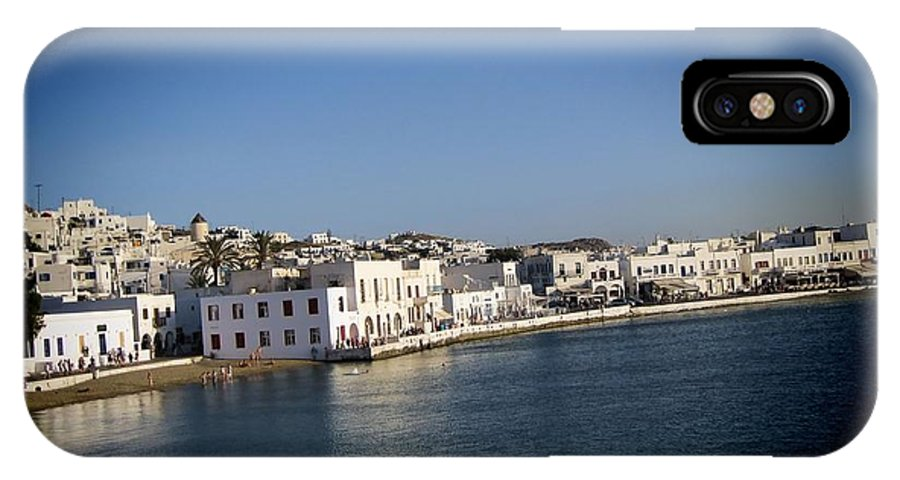 Mykonos Greek: Μύκονος [ˈmikonos]) Greek Island IPhone X Case featuring the photograph Mykonos Greece by RJ Aguilar
