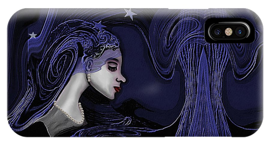 Woman IPhone X Case featuring the painting 128 - Melancholia ... by Irmgard Schoendorf Welch