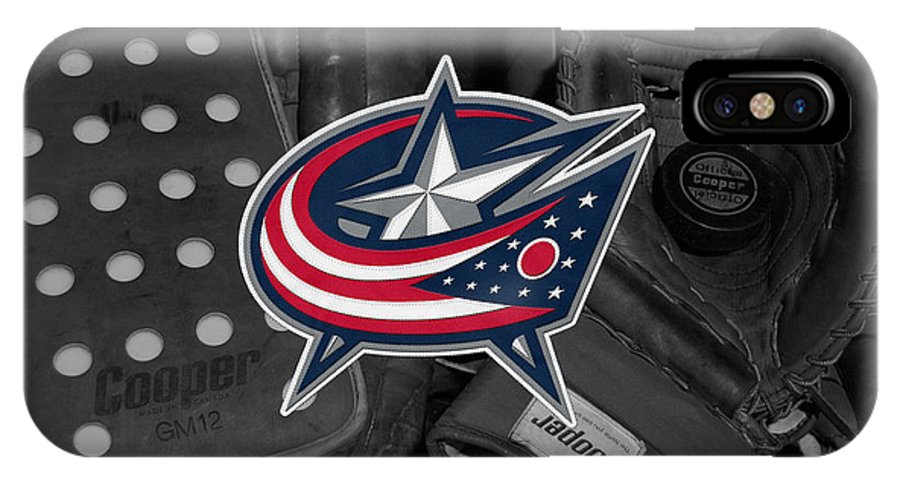 Blue Jackets IPhone X Case featuring the photograph Columbus Blue Jackets by Joe Hamilton