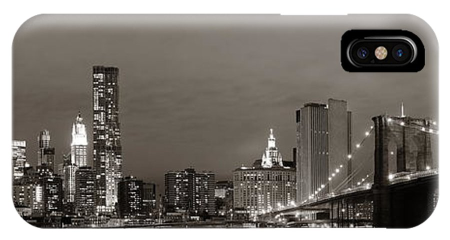 New York City IPhone X Case featuring the photograph Manhattan Downtown by Songquan Deng