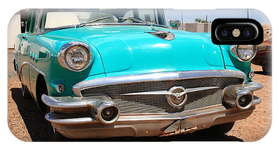 66 IPhone X / XS Case featuring the photograph Route 66 Classic Car by Frank Romeo