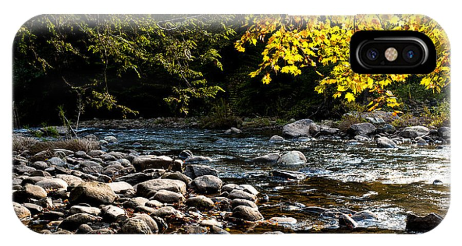 Williams River IPhone X Case featuring the photograph Williams River Autumn by Thomas R Fletcher