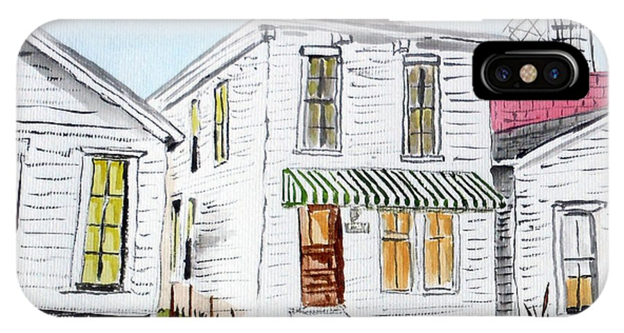 Street Scenes IPhone X / XS Case featuring the painting 1327 Woerner Ave by Arlene Wright-Correll