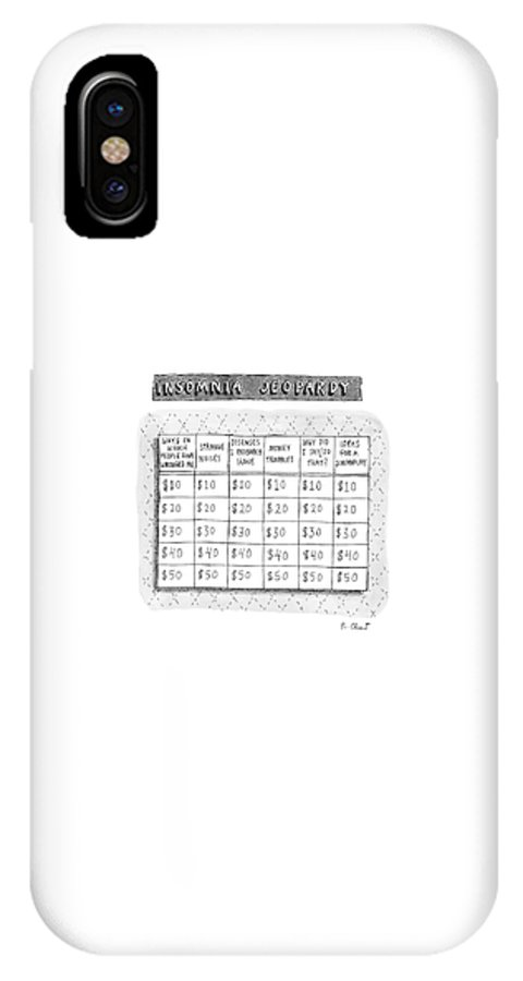 Insomnia Jeopardy IPhone X Case featuring the drawing Insomnia Jeopardy by Roz Chast