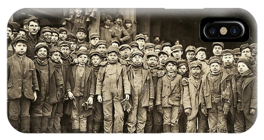 1911 IPhone X Case featuring the photograph Hine Child Labor, 1911 by Granger