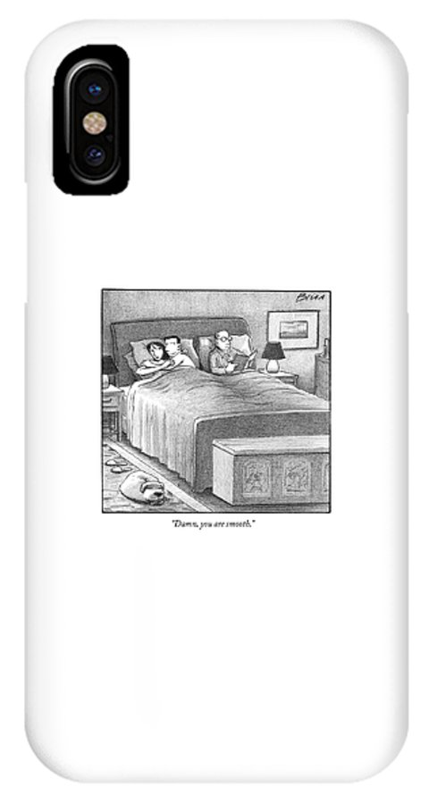 Adultery IPhone X Case featuring the drawing Damn, You Are Smooth by Harry Bliss