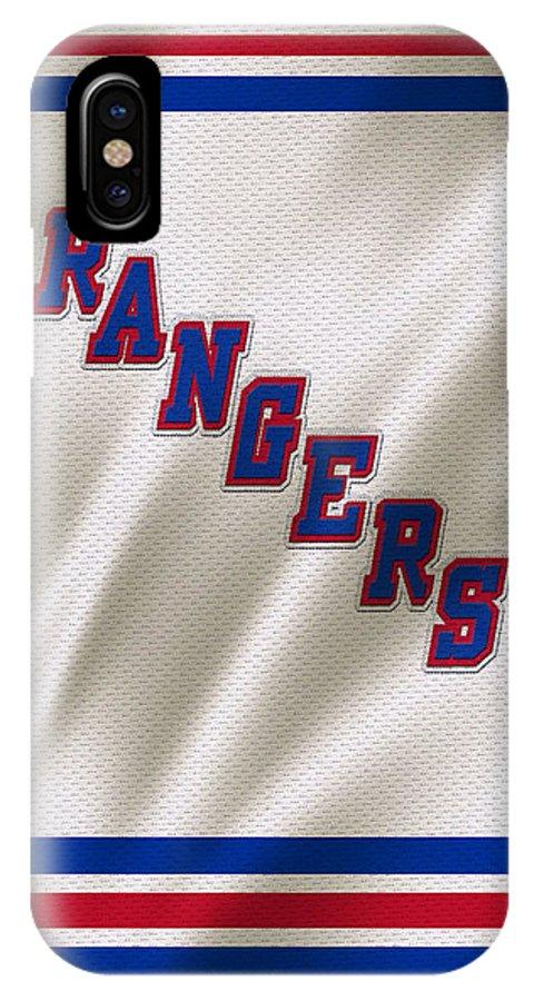 Rangers IPhone X Case featuring the photograph New York Rangers by Joe Hamilton