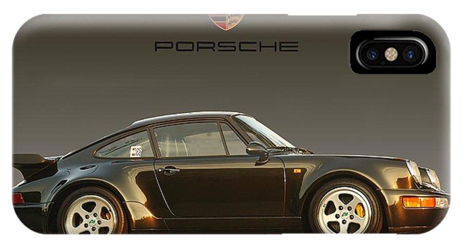 Porsche IPhone X Case featuring the digital art Porsche 911 3.2 Carrera 964 Turbo by Ganesh Krishnan