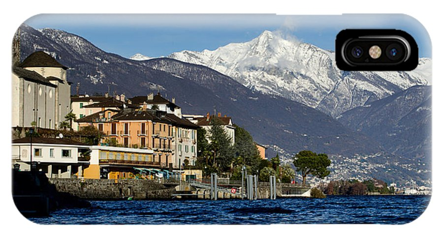 Brissago IPhone X Case featuring the photograph Alpine Village by Mats Silvan