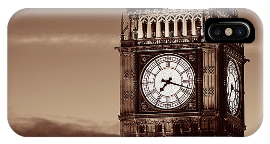 London IPhone X Case featuring the photograph Big Ben Closeup by Songquan Deng
