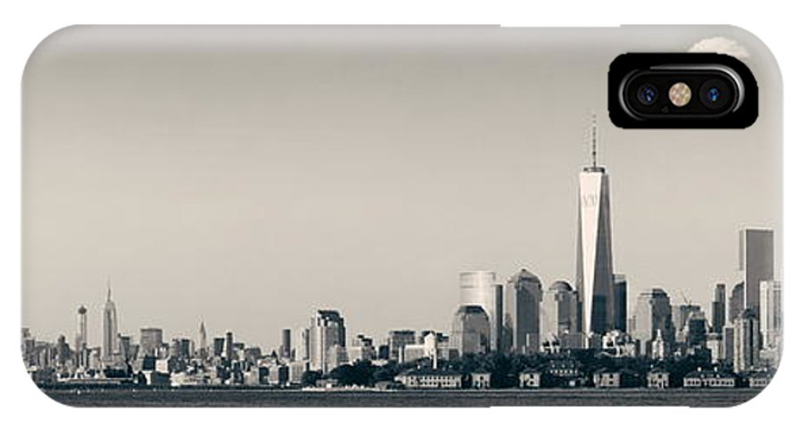 New York City IPhone X Case featuring the photograph Manhattan Downtown Skyline by Songquan Deng