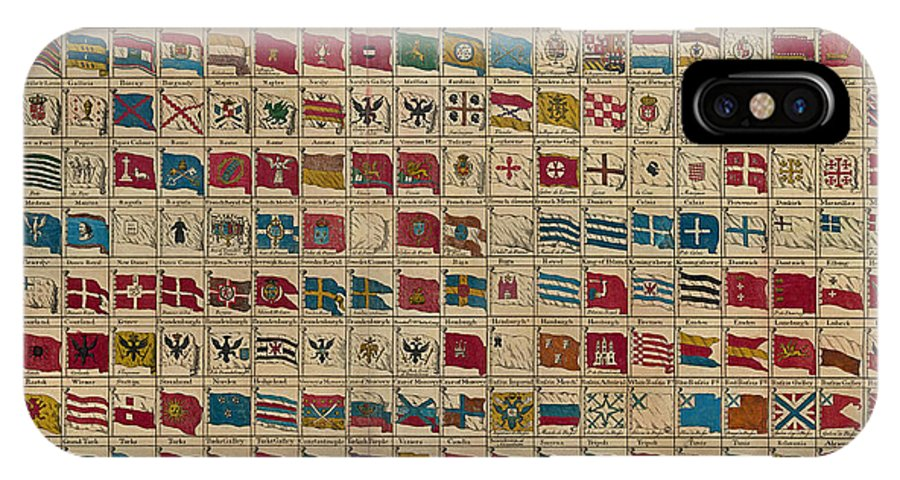 1783 World Naval Flags IPhone X Case featuring the digital art 1783 World Naval Flags by Safran Fine Art