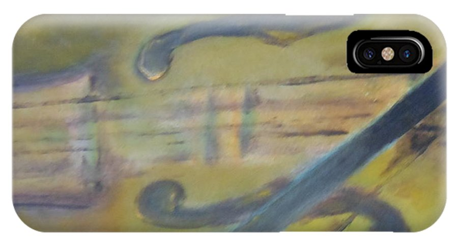 Abstract IPhone X Case featuring the painting Art By Lyle by Lord Frederick Lyle Morris - Disabled Veteran