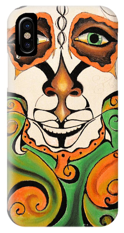 IPhone X Case featuring the painting JB by James Brewton