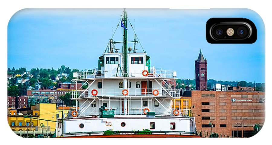 Great Lake Ships IPhone X Case featuring the photograph Ship by Chandler Cass
