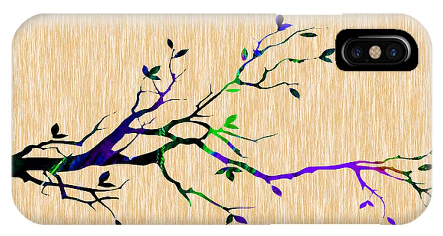 Tree IPhone X Case featuring the mixed media Tree Branch Collection by Marvin Blaine